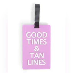 GOOD TIMES TAN LINES Luggage Tag NEW